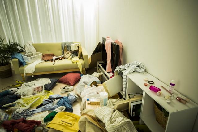 女性の汚部屋